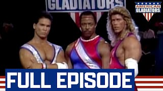 Gladiators v. Pro Football Players, Model, Karate Black Belt (Full Episode) | American Gladiators