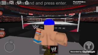 Roblox Warfare: Undertaker vs John Cena ( Aj Styles Attacks Cena)
