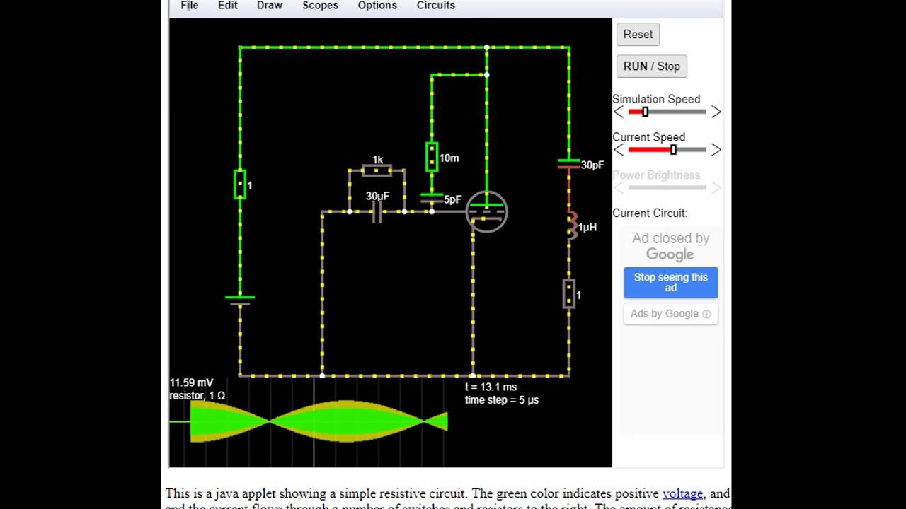 Falstad Circuits Youtube Not Lossing Wiring Diagram Circuit Simulator Applet Paul Rh Com Java