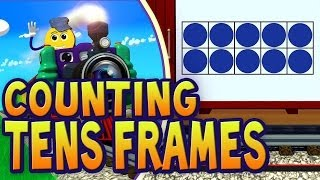 Tens Frames Train - Count the Dots in Each Ten Frame | PicTrain™ thumbnail