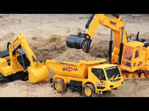 Excavators for Children and Truck for Children with 1 Hour L