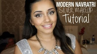 Tutorial | Modern Silver Navratri/Garba 2014 Makeup Collab with AnchalMUA | Kaushal Beauty Thumbnail