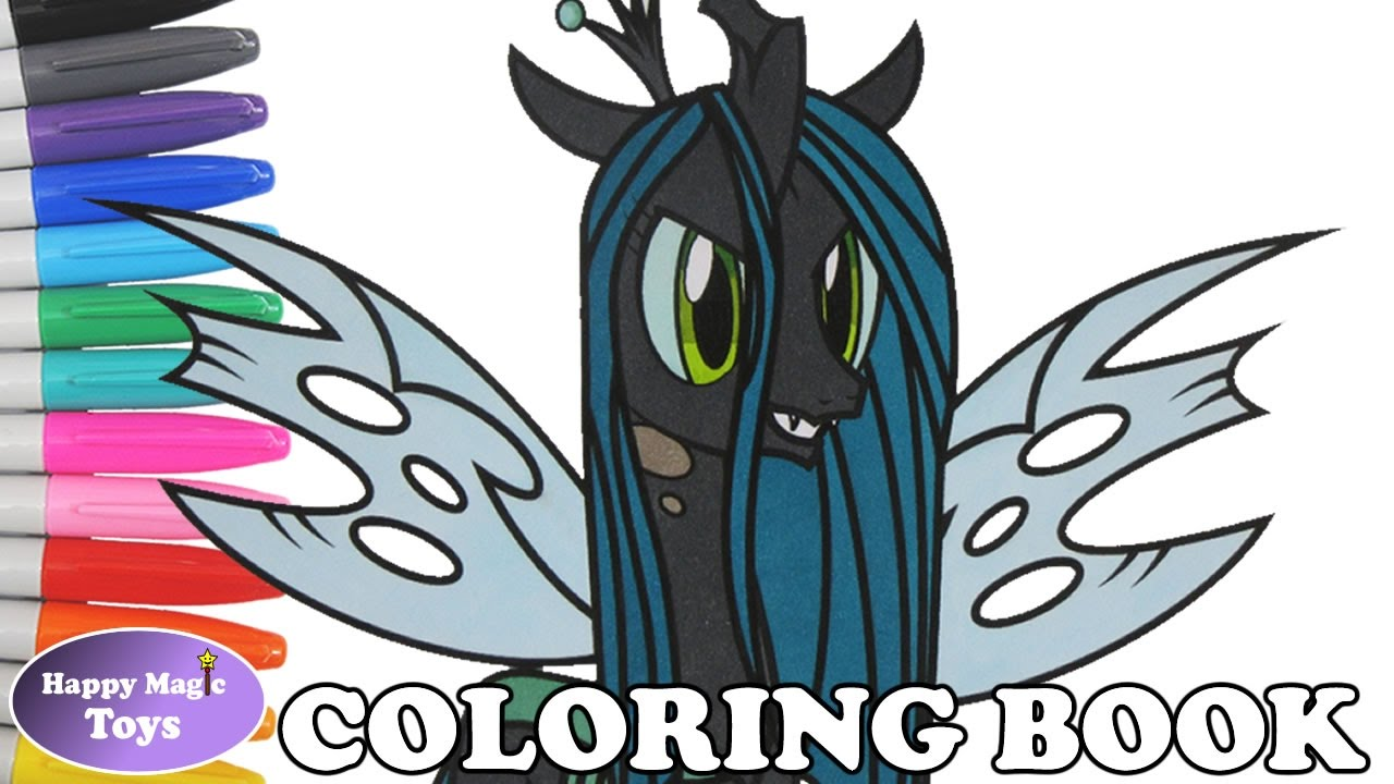 MLP Queen Chrysalis Coloring Book My Little Pony Coloring Page