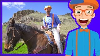 Repeat youtube video A Day On The Ranch for Kids | Blippi Axe Family | Videos for Children