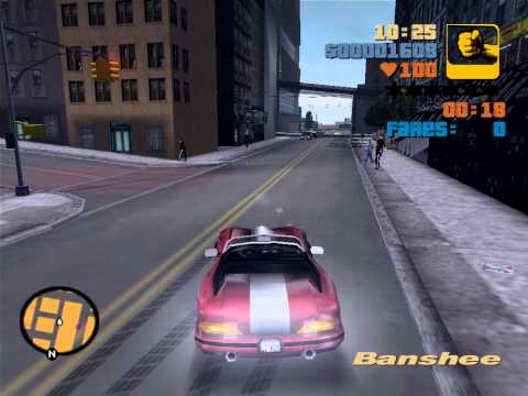 GTA 3 Taxi Submission played with...Banshee,using a glitch