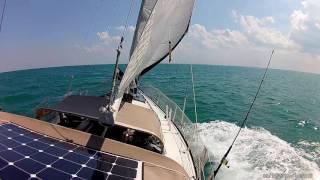 Cherubini 37 cutter Hypatia off St. Augustine, FL