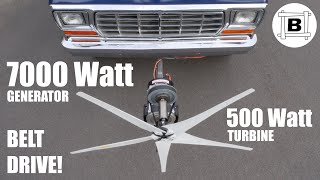 Driving a 7000W Generator With a 500W Turbine? - Wind Power on a CAR #3