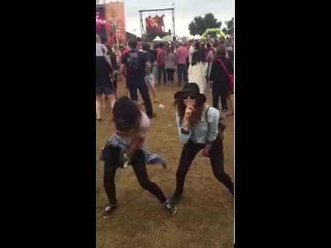 Nina Dobrev Dancing With Jessica Szohr at ACL Festival Is Amazing 2014!!!