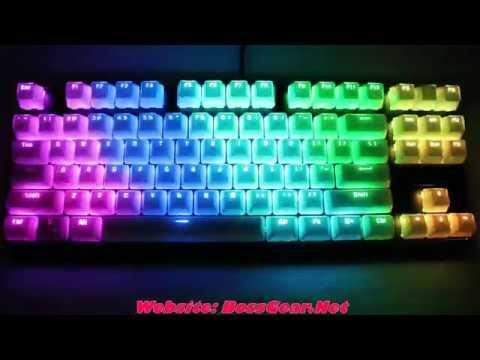 Bàn phím cơ Fantech Pantheon MK871 RGB với bộ keycap Crystal trắng