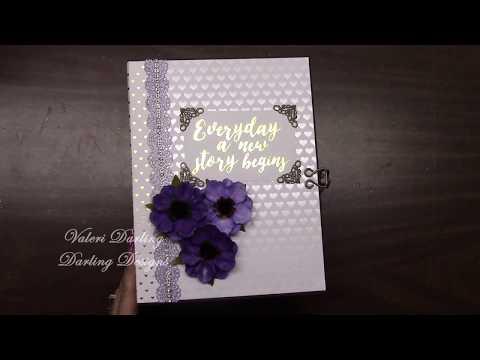 Mini Wedding Album Purple And Gold By Valeri At Darling Designs