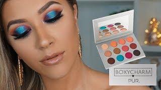 LOOK azul METALIZADO PUR X BOXYCHARM | VickyAlvarez