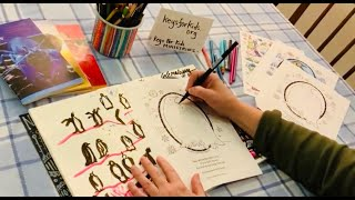 Keys for Kids: New Coloring Page Look & Mini Drawing Lesson