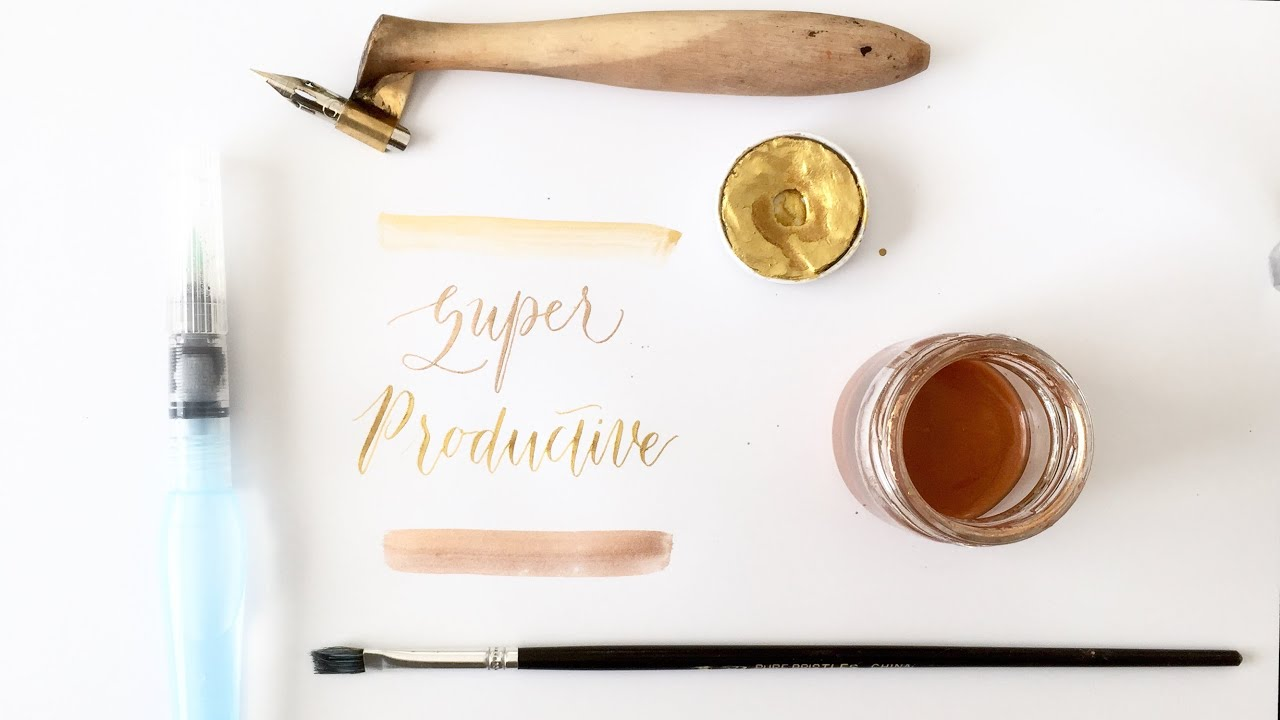 Writing Modern Calligraphy With Pearl Ex And Finetec