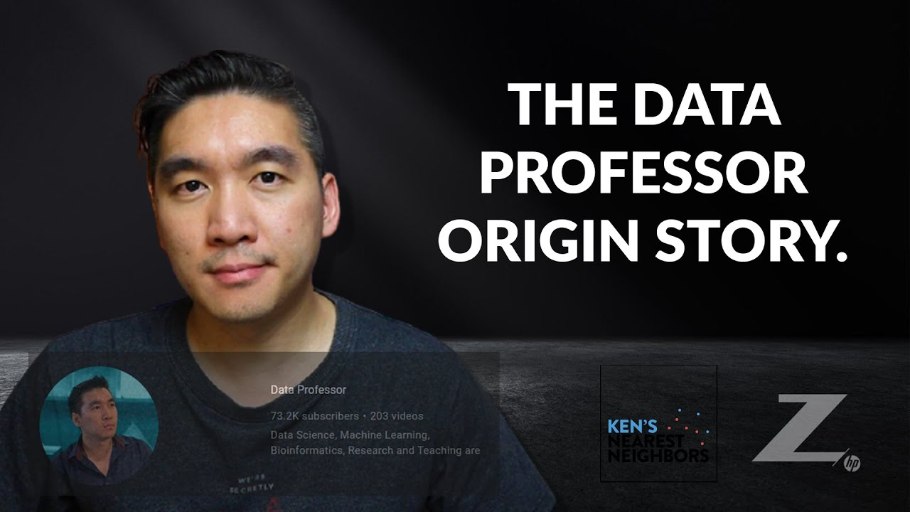 Who is the @Data Professor? (Chanin Nantasenamat) - KNN Ep. 52