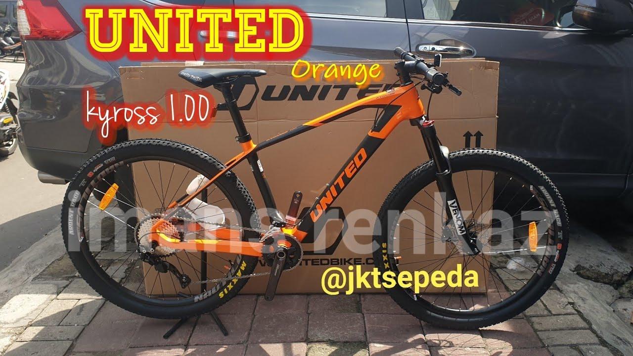First impression Sepeda MTB UNITED KYROSS 1.0 Orange