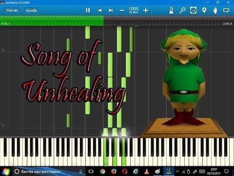 Song of Unhealing (Ben Drowned's Creepypasta)-Synthesia-Undertale sheet music