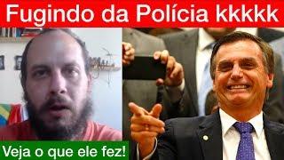 Jornalista que ameaçou Bolsonaro FOGE da P0LÍCIA FEDERAL! Cadê o machão kkkkkk
