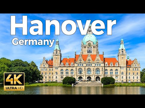 Hanover, Germany Walking Tour (4k Ultra HD 60fps)