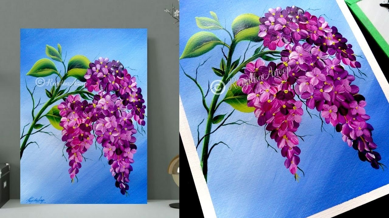 How To Paint Easy Flowers Step By Step Acrylic Painting Simple