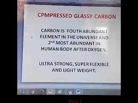 "New carbon form discovered,  latest "" Compressed Glassy Carbon "" hindi me"