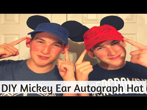 DIY Making Mickey Ears Autograph Hat - Get Signed By All Your Favorite Characters