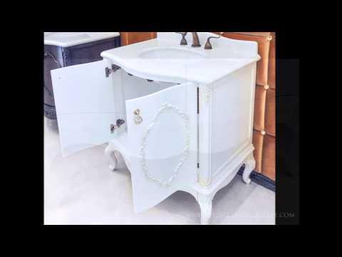 antique-bathroom-vanity-set---white-marble---chester