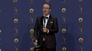 John Oliver - 2018 Emmys - Full Backstage Speech