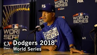 World Series 2018: Dave Roberts on sign stealing