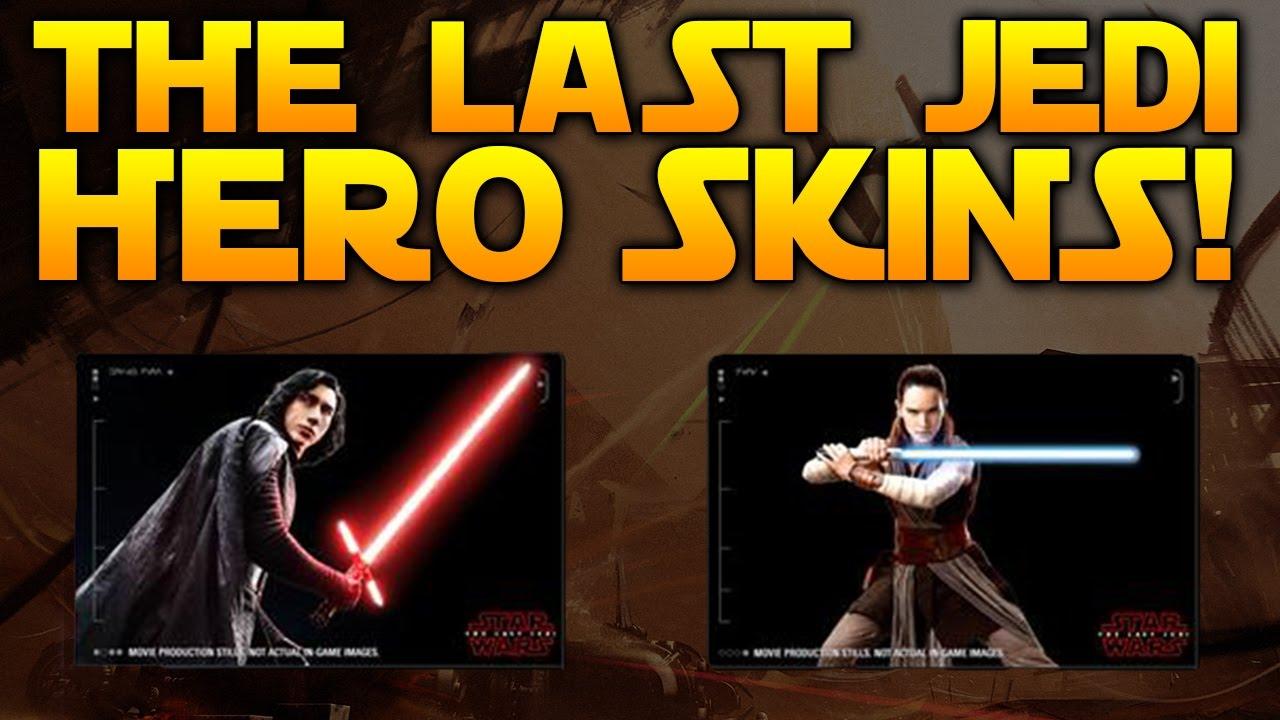first look kylo ren u0026 rey last jedi skins star wars