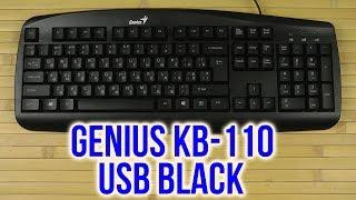 Розпакування Genius KB-110 USB, Black