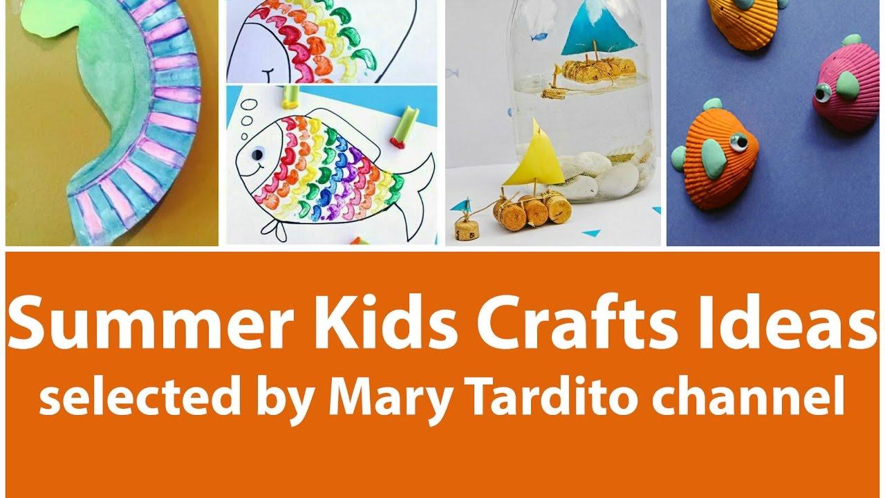 Summer Kids Crafts Ideas Youtube