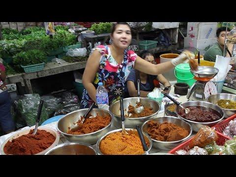 Phuket Thailand Food Market. A Walk Around a Morning Thai Food Market in Phuket