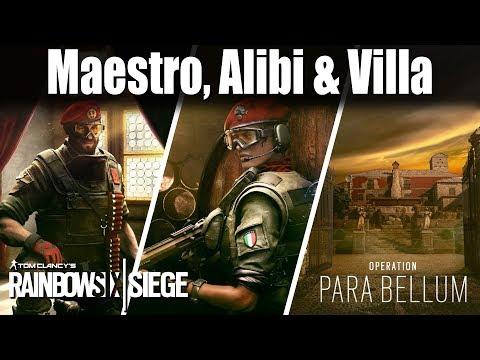 Maestro, Alibi and Villa revealed this weekend: Rainbow Six Siege
