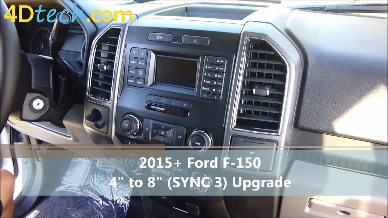 """4"""" to 8"""" Upgrade w/ SYNC 3   2015 - 2017 Ford F-150 - YouTube"""
