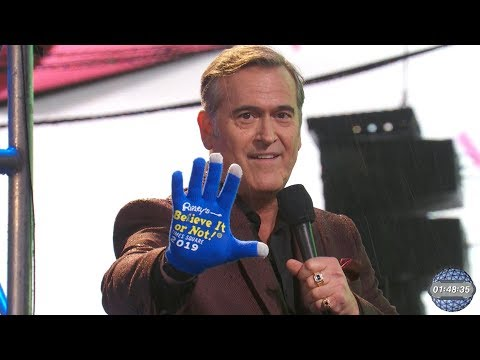 Bruce Campbell: Is he filming Ripleyu2019s Believe It or Not in Orlando now?