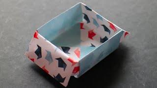 Origami Schachtel Schublade selber basteln mit Papier [W+]
