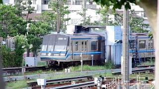 【横浜市営地下鉄】3000N形第35編成洗車機通過シーン