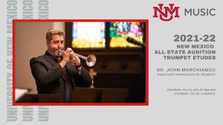 2021-22 New Mexico All State Trumpet Etudes, Voxman, pg. 24, Eb Major, Voxman, pg. 19, g minor