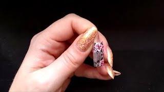 Простой рисунок на ногтях лаком. Цветы
