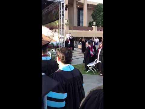 National anthem at Csun graduation 2013
