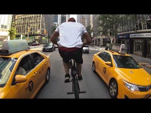 Crazy bike tour through NYC