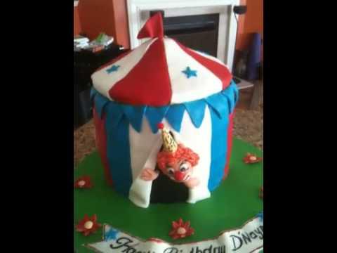 Circus Clown Fondant cake & Circus Clown Fondant cake - YouTube