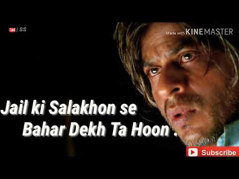 Mein Qedi No 786 Shah Rukh Khan Veer-Zaara Emotional Poem || Woh Kehte Hai Yeh Tera Desh Nahi