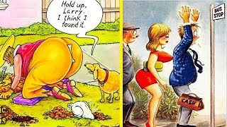 New Most Funny Cartoon Photos Of All Time |  Adult Comics illustrations