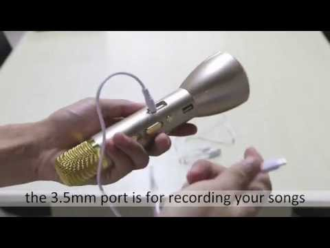 Bluetooth Karaoke Player Microphone Speaker Instruction