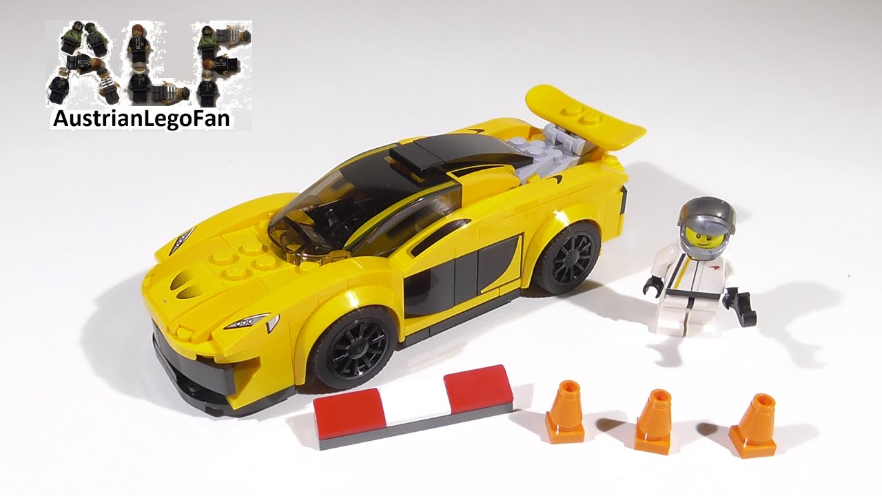 Lego Speed Champions 75909 McLaren P1™   Lego Speed Build Review