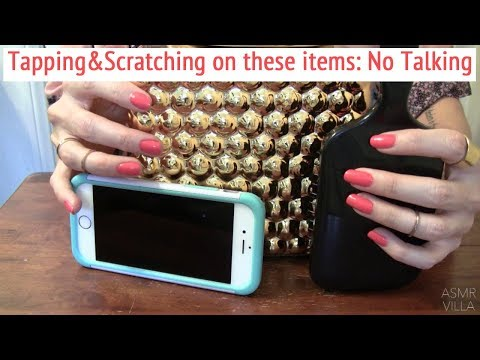 ASMR * Hair Brush, Cell Phone & Gold Bubble Pot * Tapping & Scratching * Fast Tapping * No Talking