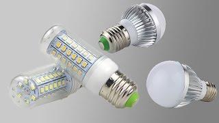 Светодиодные лампы сравнение и разбор(Купил несколько светодиодных ламп на Алиэкспресс. Вначале покупал на 5 Ватт, теперь взял на 10 Ватт и более,..., 2016-10-22T15:00:02.000Z)
