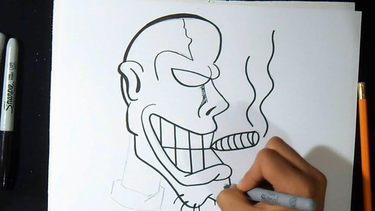 Cómo Dibujar Personaje Con Cigarro Graffiti