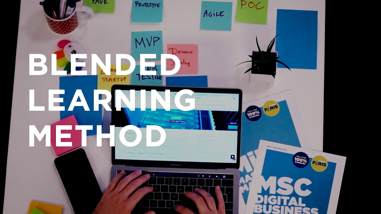 Business School Blended Learning Method, on Campus and Online